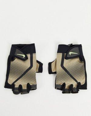 Светло-бежевые мужские перчатки для тренировок Extreme-Светло-бежевый цвет Nike