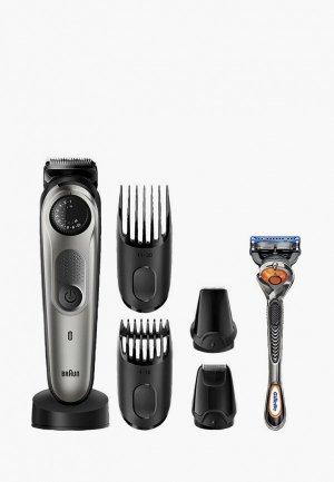 Набор для бритья Braun BT7240 + Бритва Gillette. Цвет: серый