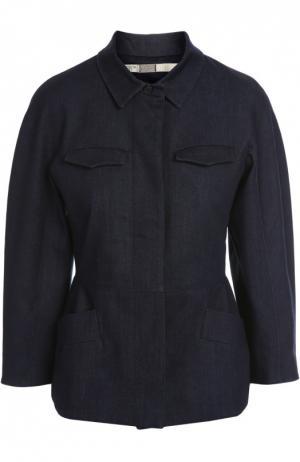 Джинсовая куртка 7 For All Mankind. Цвет: темно-синий
