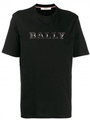 Футболка с логотипом Bally. Цвет: черный