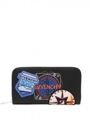 Кошелек с нашивкой Givenchy. Цвет: черный