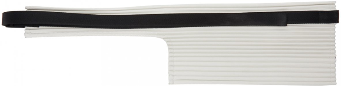 Off-White Pleats Waist Bag Homme Plissé Issey Miyake. Цвет: 3 ivory