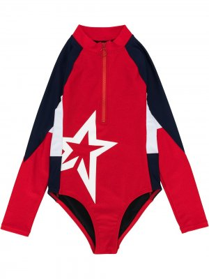 Star print float suit Perfect Moment Kids. Цвет: красный