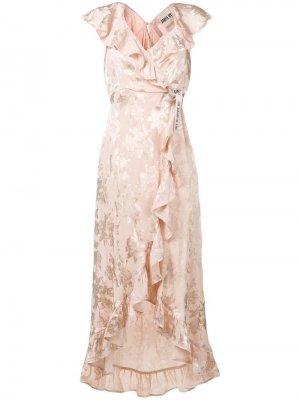Длинное платье с запахом ANIYE BY. Цвет: бежевый