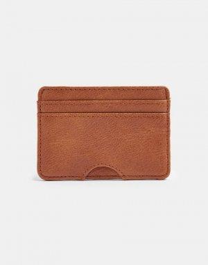 Светло-коричневая кредитница из искусственной кожи -Коричневый цвет Topman