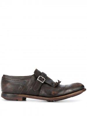 Churchs туфли монки с бахромой Church's. Цвет: коричневый
