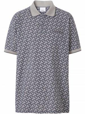 Рубашка поло с монограммой Burberry. Цвет: серый