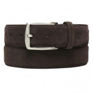 Ремни, пояса Suede Leather Belt 4 cm Timberland. Цвет: темно-коричневый