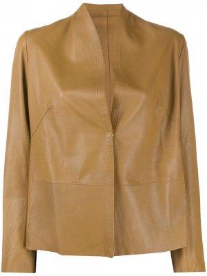 Куртка без воротника S.W.O.R.D 6.6.44. Цвет: коричневый