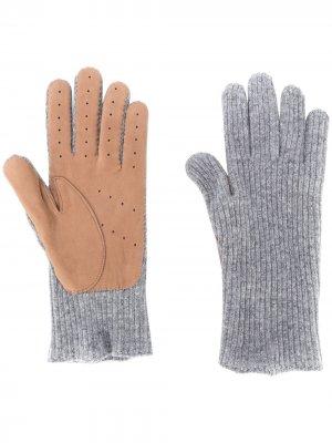 Перчатки тонкой вязки Brunello Cucinelli. Цвет: серый