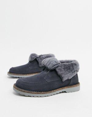 Теплые серые ботинки с подкладкой -Серый Birkenstock