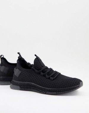Черные беговые кроссовки из тканого материала -Черный Brave Soul