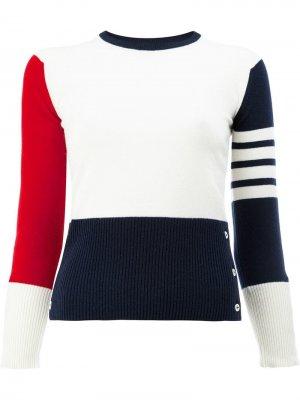 Пуловер с контрастными полосками Thom Browne