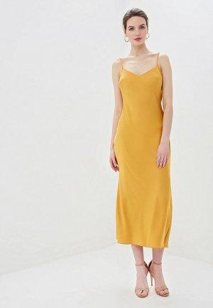 Платье Elle Land. Цвет: желтый