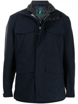 Куртка George со съемным жилетом Save The Duck. Цвет: синий