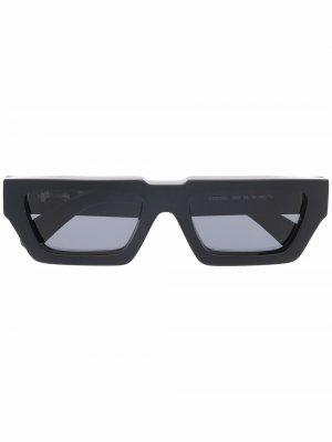 Солнцезащитные очки Manchester в прямоугольной оправе Off-White. Цвет: черный