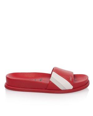 Сланцы TEAM 39 красный+белый+серебристый ASH. Цвет: красный+белый+серебристый
