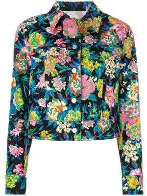 Куртка с цветочным принтом MSGM. Цвет: разноцветный