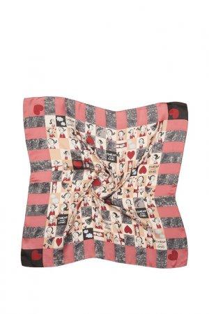 Шелковый платок Fiona Fantozzi. Цвет: розовый