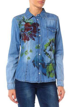 Рубашка Marc Aurel. Цвет: мультицвет