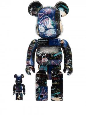 Комплект фигурок Jean-Michel Basquiat #7 из коллаборации с Be@rbrick Medicom Toy. Цвет: черный