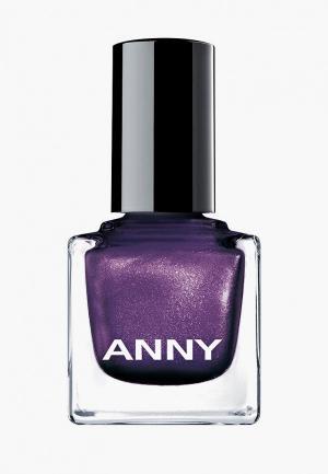 Лак для ногтей Anny тон 208.10 фиолетовый с перламутром. Цвет: фиолетовый