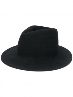 Шляпа федора Ann Demeulemeester. Цвет: черный