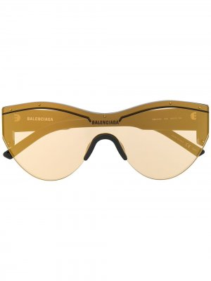 Ski Cat sunglasses Balenciaga Eyewear. Цвет: коричневый