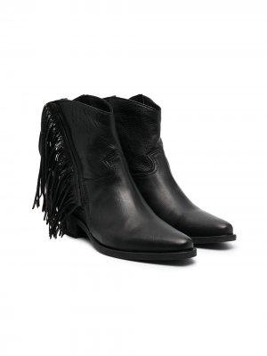 Ботинки с бахромой Cinzia Araia Kids. Цвет: черный
