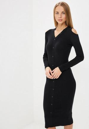 Платье LOST INK BUTTON THROUGH BODYCON DRESS. Цвет: черный