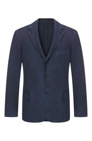 Льняной пиджак 120% Lino. Цвет: темно-синий