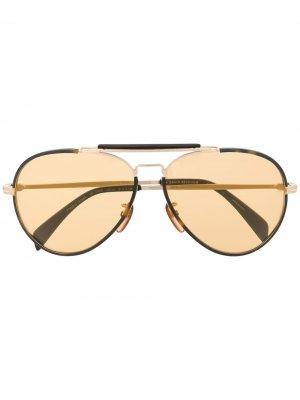 Солнцезащитные очки-авиаторы 7003/S Eyewear by David Beckham. Цвет: серебристый