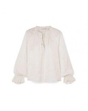 Блузка ULLA JOHNSON. Цвет: слоновая кость