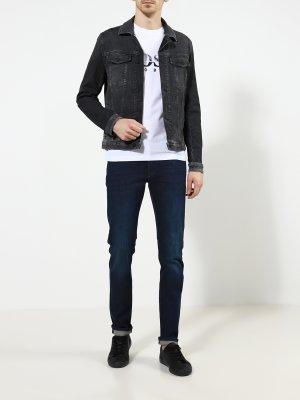 Джинсовая куртка Livingston BOSS. Цвет: seryy