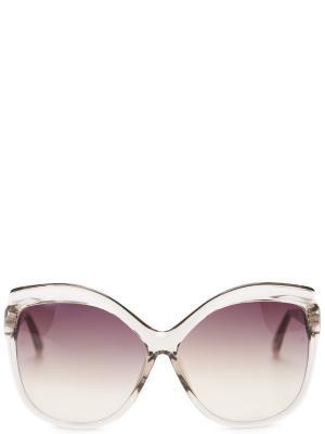 Солнцезащитные очки LINDA FARROW. Цвет: белый