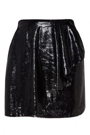 Черная мини-юбка с воланом MO&Co. Цвет: черный