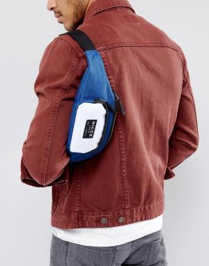 Темно-синяя сумка-кошелек на пояс Nicce London. Цвет: темно-синий