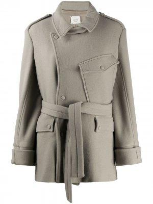 Куртка с поясом Alysi. Цвет: нейтральные цвета