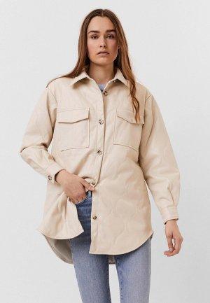Куртка кожаная Vero Moda. Цвет: розовый