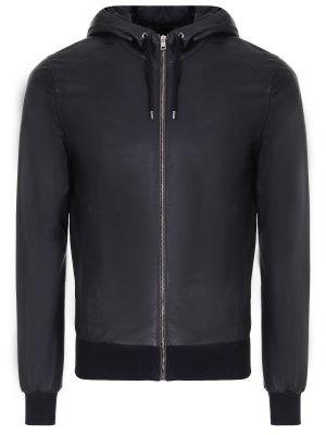 Кожаная куртка с капюшоном GUCCI