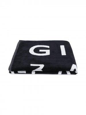 Полотенце с логотипом Givenchy Kids. Цвет: синий