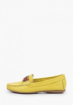 Мокасины Francesco Donni. Цвет: желтый