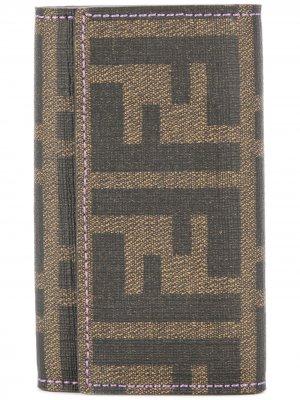 Ключница с узором монограммами Fendi Pre-Owned. Цвет: коричневый