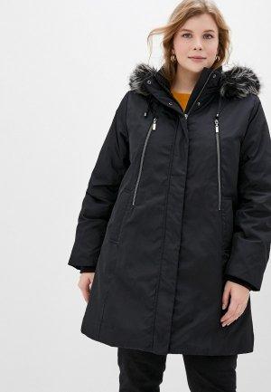 Куртка утепленная Ulla Popken. Цвет: черный