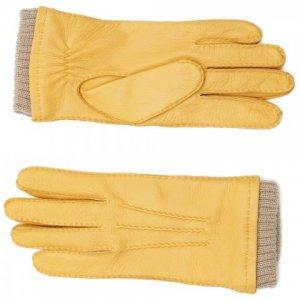 Перчатки Fabi. Цвет: жёлтый