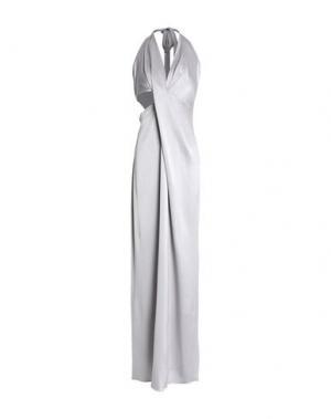 Длинное платье HALSTON. Цвет: светло-серый