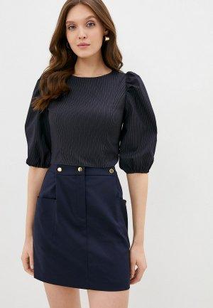 Блуза Kira Plastinina. Цвет: синий