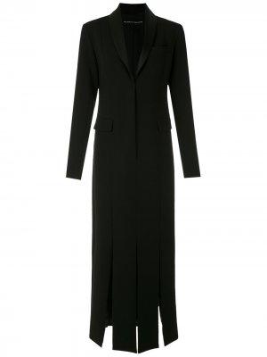 Платье миди с разрезами по бокам Gloria Coelho. Цвет: черный