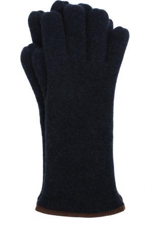 Кашемировые перчатки Svevo. Цвет: темно-синий