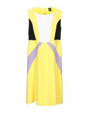 Короткое платье 1-ONE. Цвет: желтый